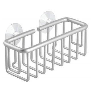 6.5 x 2.75 x 3 in. Aluminum Metro Suction Soap & Sponge Holder -