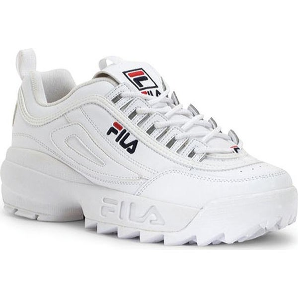 1b83ad6feceb Shop Fila Men s Disruptor II White Peacoat VRed - Free Shipping Today -  Overstock - 9832010