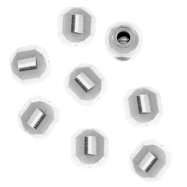 Beadalon Silver Plated Memory Wire Scrimps Screw-On Oval Crimp Beads (12)