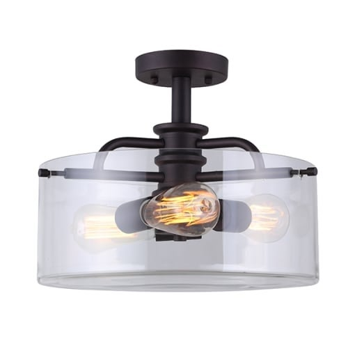 Canarm isf679a03 albany 3 light 14 12 wide semi flush drum ceiling canarm isf679a03 albany 3 light 14 12 wide semi flush drum ceiling fixture free shipping today overstock 25548888 aloadofball Images