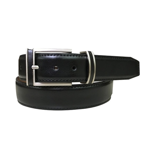 Danbury Western Belt Mens Feathered Stitched Edges Inlay