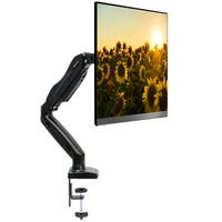 "Full Motion LCD Monitor Arm Gas Spring Desk Mount for Screens up to 27"" - Black"