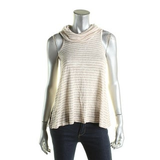 Hippie Rose Womens Juniors Casual Top Cowl Neck Sleeveless - XS