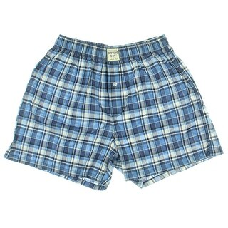 Bottoms Out Mens Woven Plaid Boxers - S