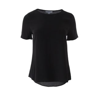 Dylan Gray Womens Silk Short Sleeves Blouse - XS