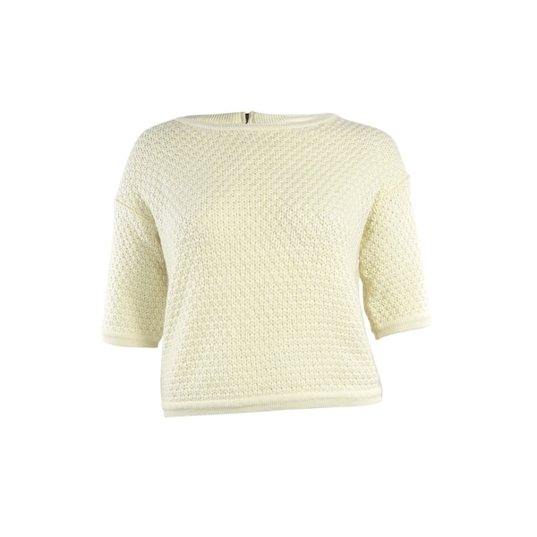 Made for Impulse Women's Crewneck Knit Dolman Sweater - ivory