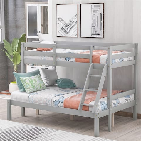 Twin over Full Bunk Bed Gray