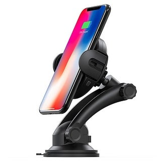 Automatic Expanding Qi Car Charger and Mount by Indigi® Air Vent Mount or Suction Mount (IR Sensor for Automatic Expansion)