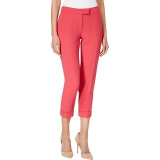 Anne Klein Womens Cropped Pants Slim Cuffed