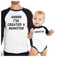 Created A Monster Dad Baby Matching Baseball Shirts New Dad Gifts