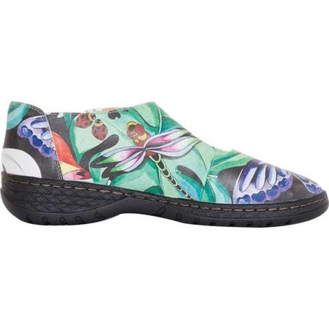Anuschka Women's Mita Mary Jane Lovely Leaves Printed Leather