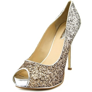 Guess Honora 2 Open Toe Leather Platform Heel