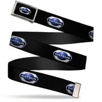 2012 Datsun Oval Logo Fcg Black Blue White  Chrome 2012 Datsun Oval Web Belt