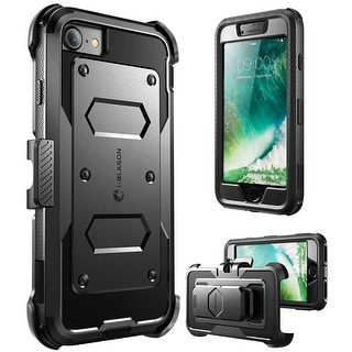 iPhone 7 Case,I-Blason  [Armorbox Case] built in Screen Protector, Apple Iphone 7 Case-Black