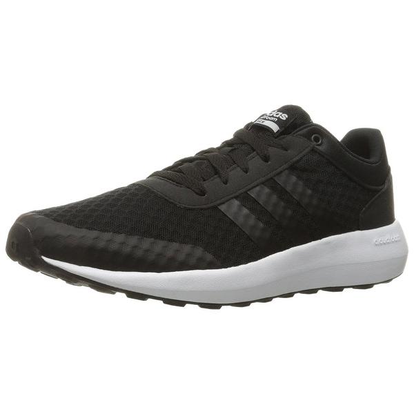 new product 2b714 1a96f Adidas Men  x27 s Cloudfoam Race Running Shoe, Black White, 8.5