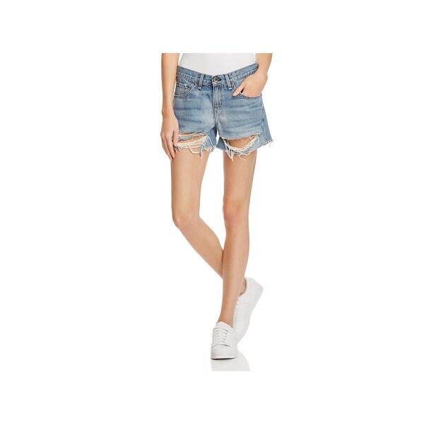 7bb595930c Shop Rag & Bone Womens Cutoff Shorts Denim Destroyed - On Sale ...