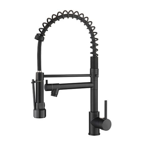 Single Handle Spring Kitchen Sink Faucet - 9.25*1.88*19.37inch