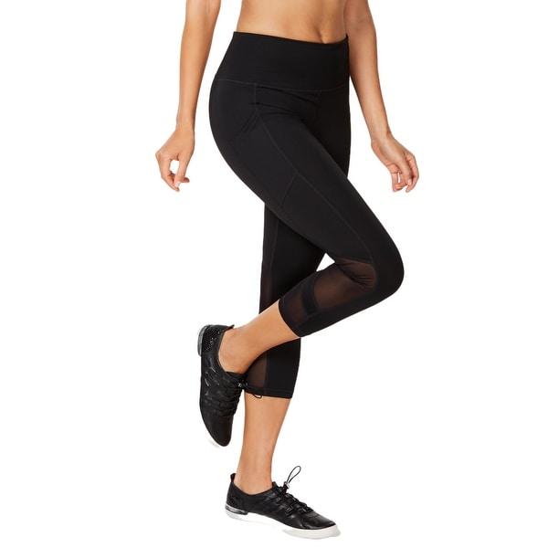 Calvin Klein Performance Women's High-Waist Cropped Leggings, Black, XS