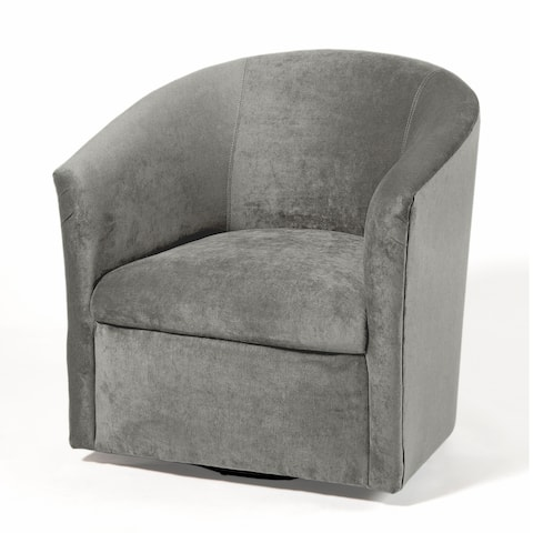 Ellery Microfiber Swivel Accent Chairs by Greyson Living