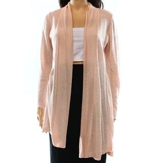 Alfani NEW Pink Women's Size XS Cardigan Linen Open-Front Sweater
