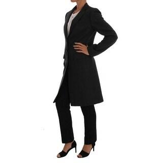Dolce & Gabbana Gray Wool Classic Single Breasted Jacket - it46-xl