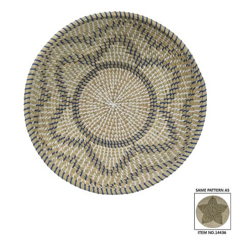 Plutus Brands Seagrass Tray in Multi-Colored Natural Fiber