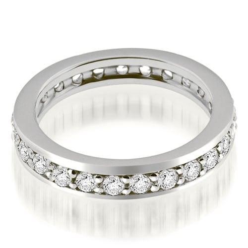 1.50 cttw. 14K White Gold Classic Round Cut Diamond Eternity Band Ring