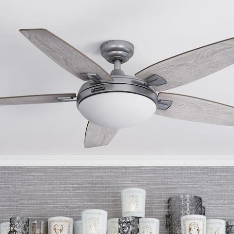 "48"" Honeywell Carmel Indoor Modern Farmhouse Ceiling Fan with Remote, Pewter"
