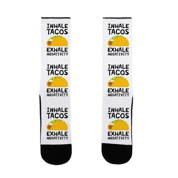 LookHUMAN Inhale Tacos Exhale Negativity US Size 7-13 Socks