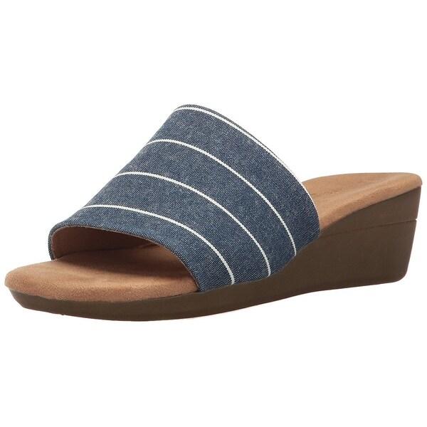 Aerosoles Womens Florida Fabric Open Toe Casual Slide Sandals