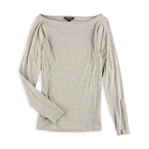 Ralph Lauren Womens Textured Basic T-Shirt
