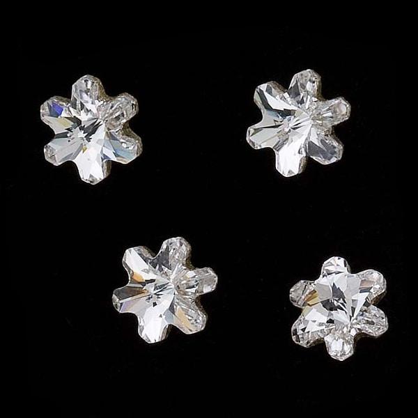 Swarovski Crystal, 4747 Rivoli Snowflake Rhinestones 5mm, 6 Pieces, Crystal F