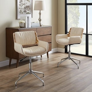 Link to Carbon Loft Nasim Height-adjustable Swivel Accent Home Office Desk Chair Similar Items in Home Office Furniture