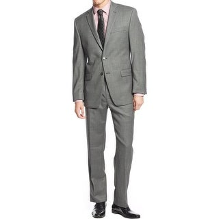 Calvin Klein Mens Two-Button Suit Wool Pindot - 42r