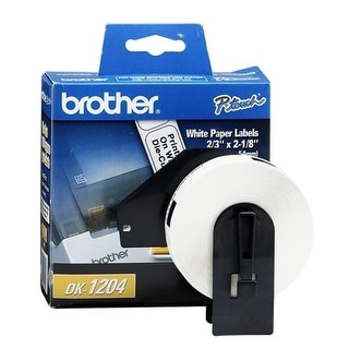 """Brother DK1204 Brother Multi-Purpose Label - 2.12"""" Width x 0.66"""" Length - 400 / Roll - Rectangle - Direct Thermal -"""