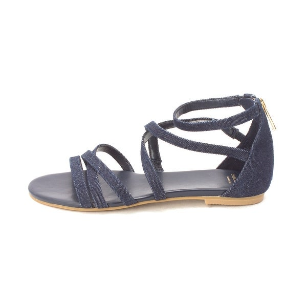 Cole Haan Womens 14A4110X Open Toe Casual Strappy Sandals - Denim - 6