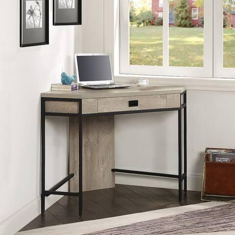 ROSEN GARDEN Corner Desk with Drawer, Not for 90 Degrees Corner