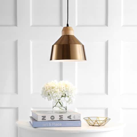 "SAFAVIEH Lighting Dajana Adjustable 1-light LED Gold Pendant - 10.25""x10.25""x11.3-83.3"""