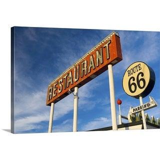 """Santa Rosa, the Route 66 Restaurant"" Canvas Wall Art"