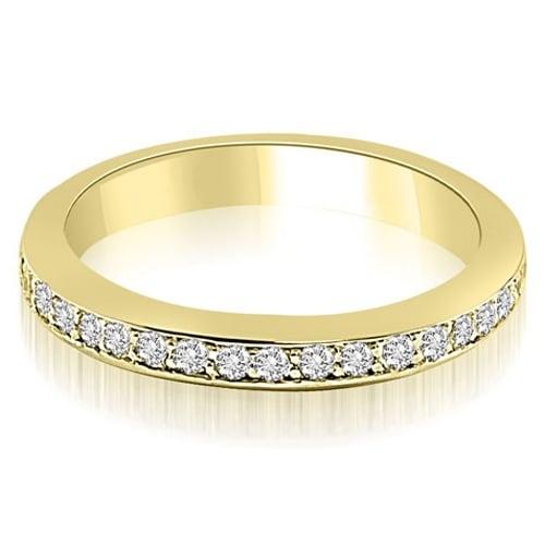 0.30 cttw. 14K Yellow Gold Classic Round Cut Diamond Wedding Band