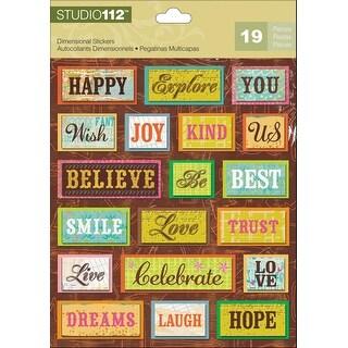 Studio 112 Dimensional Stickers-Bright Words