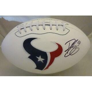 Brian Cushing Autographed Houston Texans White Logo Football