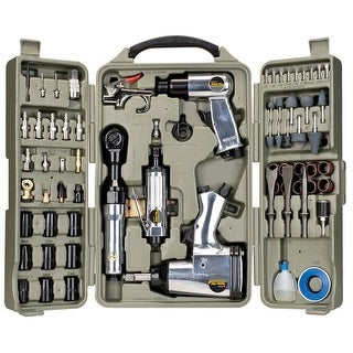Trades Pro 71 Piece DIY Starter Air Tool Set + Accessories with Storage Case
