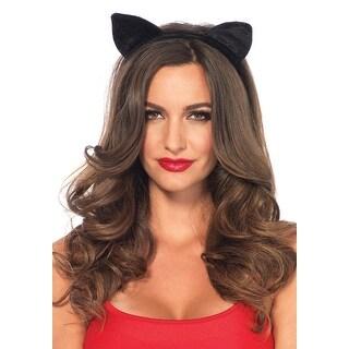 Velvet Black Cat Ears