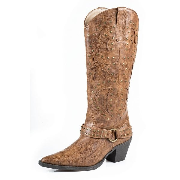 Roper Western Boot Women Look At Me Leather Tan