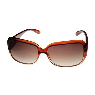 Esprit Womens Sunglass 19451 573 Brown Fade Plastic Rectangle Plastic, Gradient  - Medium