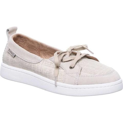 Bearpaw Women's Wilde Boat Shoe Oat Cow Suede