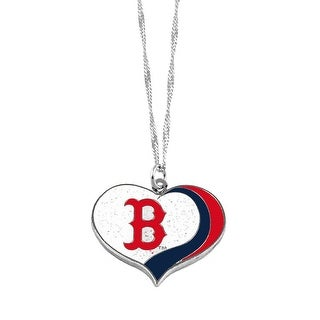 Boston Red Sox  MLB Glitter Heart Necklace Charm Gift