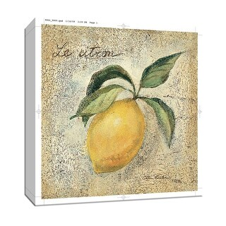 "PTM Images 9-152032  PTM Canvas Collection 12"" x 12"" - ""Le Citron"" Giclee Fruits & Vegetables Textual Art Print on Canvas"