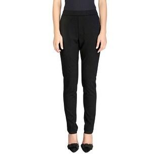 Prada Women's Viscose Slim Fit Stretch Pants Black